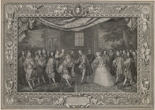 Meeting of Louis XIV, King of France and of Navarre, and Philip IV, King of Spain
